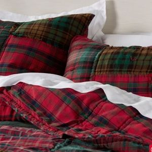 Pottery Barn Sullivan Plaid Patchwork Quilted Sham